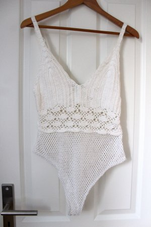 Bershka Lace Top white