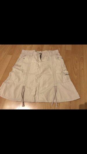 Falda acampanada blanco puro-crema