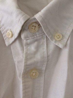 H&M Camicia a maniche lunghe bianco Cotone
