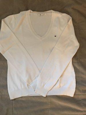 Weißer Hilfiger Pullover