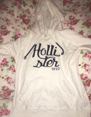 Weißer Hollister Pullover mit blauer Schrift