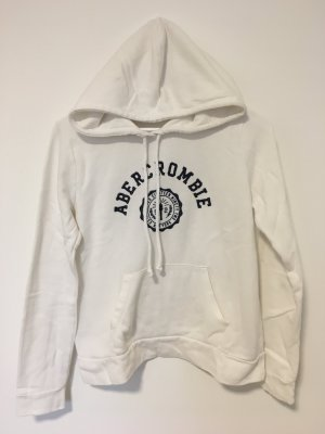 Abercrombie & Fitch Hooded Sweatshirt white