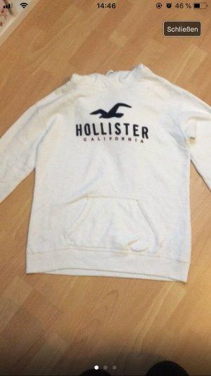 weißer Hoodie von Hollister
