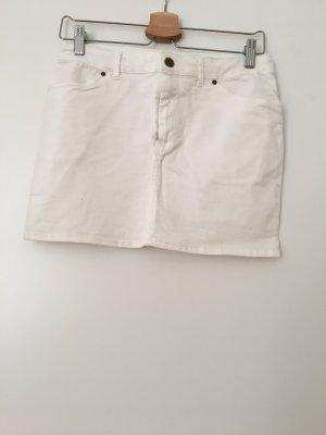 Weißer Jeans Minirock