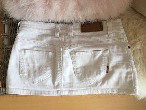Weißer Jeans Minirock von only w26