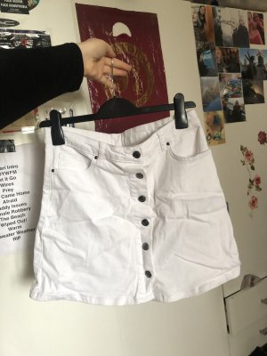 Weißer Jeans-Rock