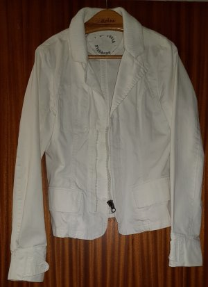 Fishbone Denim Blazer white