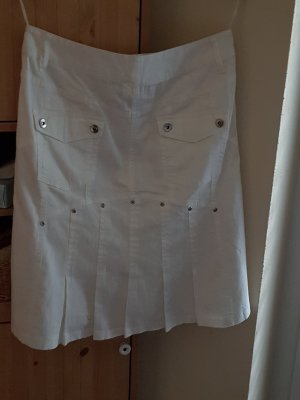 Best Connections Denim Skirt white cotton