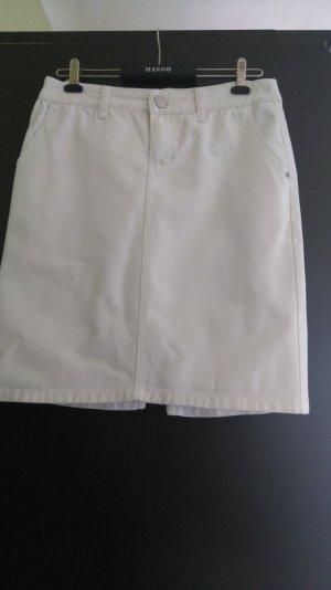 Weißer Jeansrock der Marke Mango, Größe 34