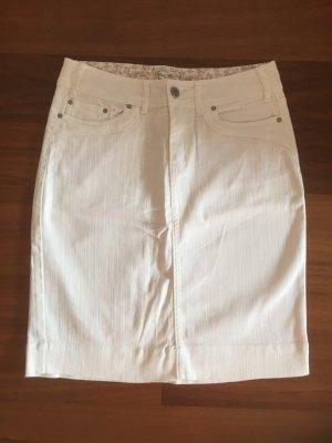 Weißer Jeansrock - schlicht