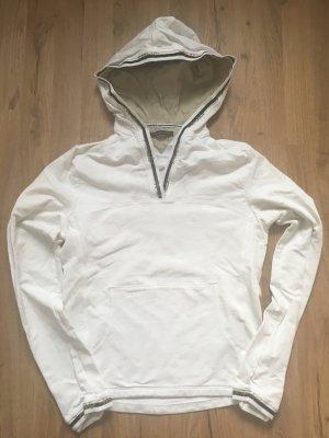 Weißer Kapuzen- Pullover von Hilfiger
