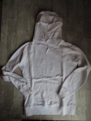 Weißer Kapuzenpullover