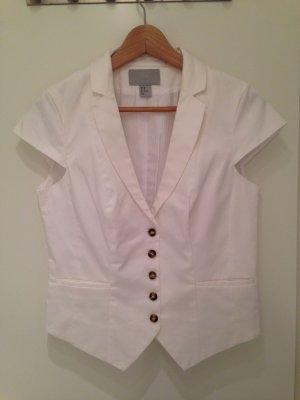 Weißer Kurzarm-Blazer von H&M in Größe 38