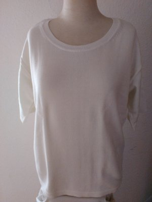 Hallhuber Short Sleeve Sweater white