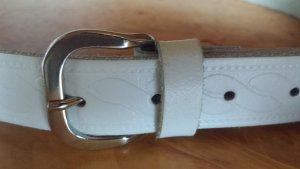 weißer Ledergürtel, neu, gr. 95