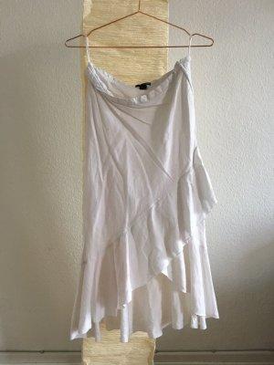 weißer Leinenrock H&M Größe 38