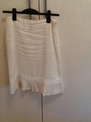 Weißer Leinenrock von H&M