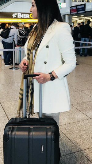Zara Abrigo corto blanco