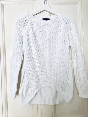 Weißer Mango Pullover chunky knit