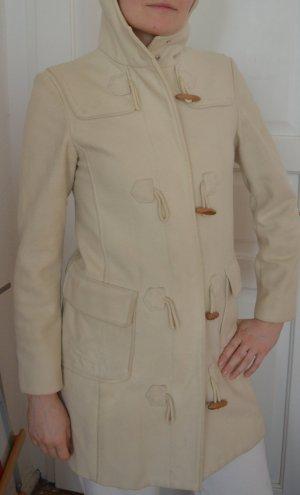 Weißer Mantel aus Filzwolle von Benetton