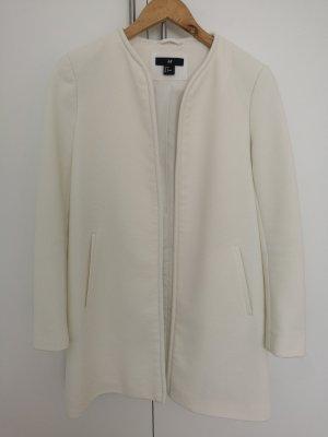 H&M Abrigo corto blanco puro