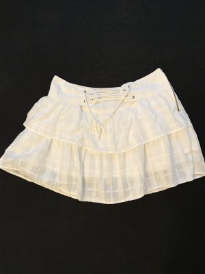 Weißer Minirock aus Baumwolle