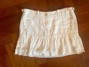 Weißer Minirock aus Leinen von BOSS