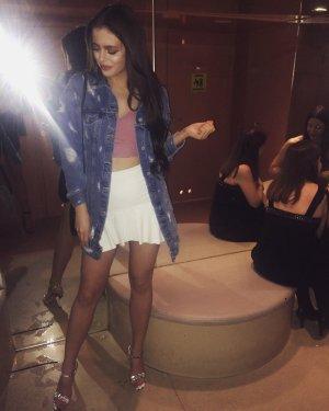 Zara Jupe à plis blanc