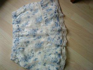 weißer Minirock mit blauen Blümchen Größe 36