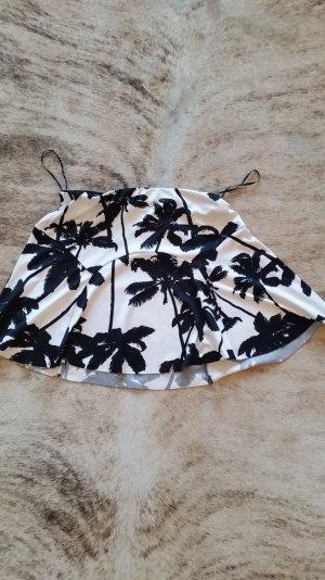 weißer Minirock mit Palmen