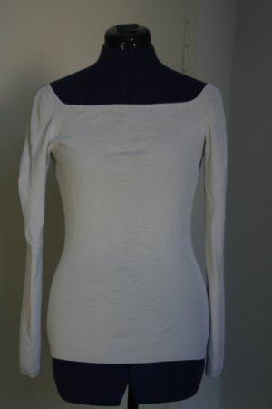 H&M Camisa tipo Carmen blanco
