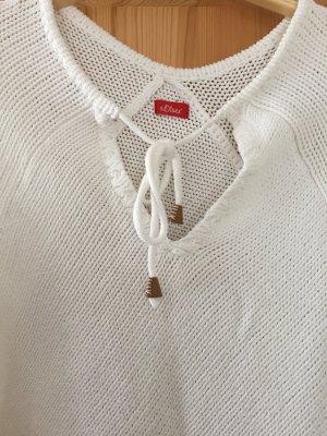 Weißer Poncho/ Pullover von s.Oliver, Größe 1