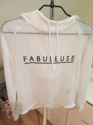 Weißer Pullover für den Sommer
