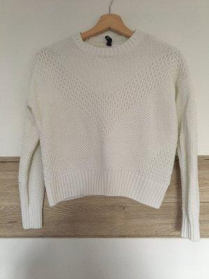 Weißer Pullover H&M