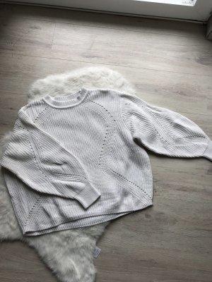 H&M Grof gebreide trui wit-wolwit