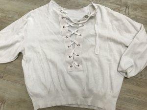 huge discount 3dc03 c5da4 Weißer Pullover mit Bändern