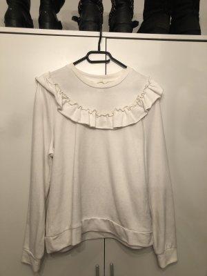 Weißer pullover mit Kragen