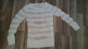 weißer Pullover mit Lochmuster von Zalando