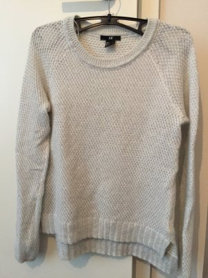 Weißer Pullover mit Silber/Glitzerwolle