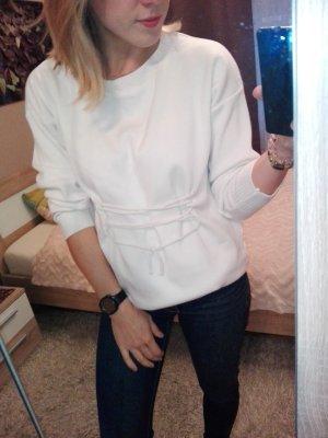 Weißer Pullover Top Shop