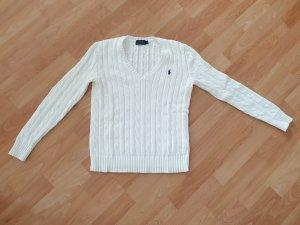 Weißer Ralph Lauren Pullover - Größe XS/34