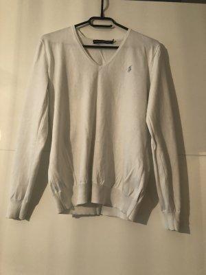 Weißer Ralph Lauren Sport Pullover Gr. L