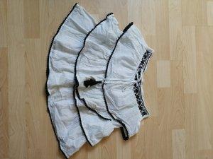 Naf naf Gelaagde rok wit-zwart