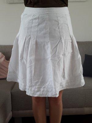 H&M Jupe mi-longue blanc lin