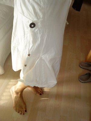 Jupe évasée blanc-brun coton