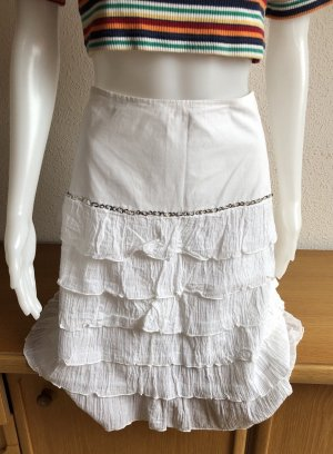 Broomstick Skirt white