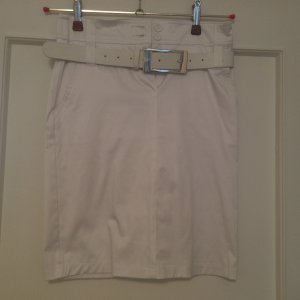 0039 Italy Pencil Skirt white cotton