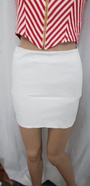 weißer rock mini