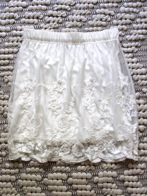 Vila Lace Skirt white