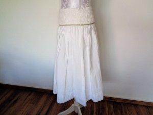 B.young Falda circular blanco-gris claro Algodón